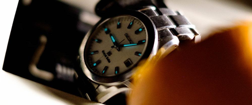 Glow-in-the-dark Seiko Watch