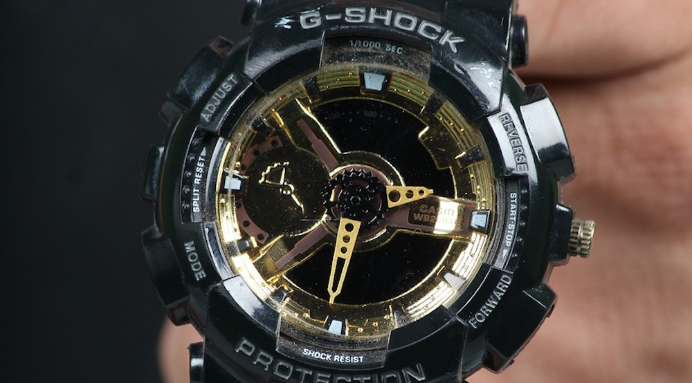 Close-up of Black Casio G-Shock watch