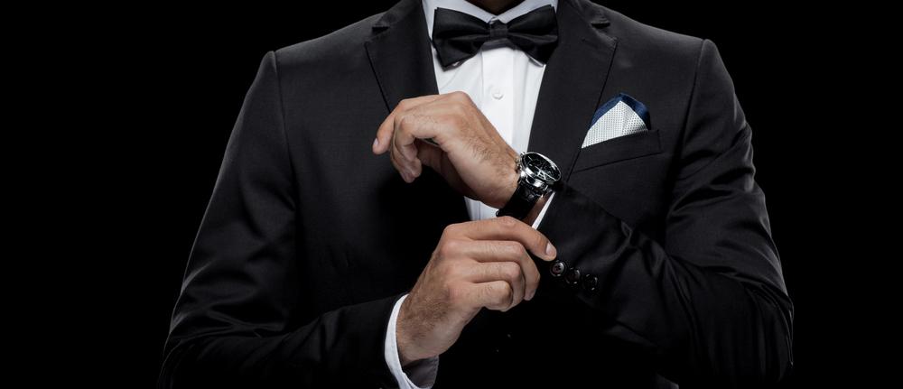 Man in a Tuxedo wearing a Bovet watch