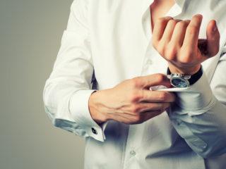 Man wearing white shirt and Bovet watch on wrist