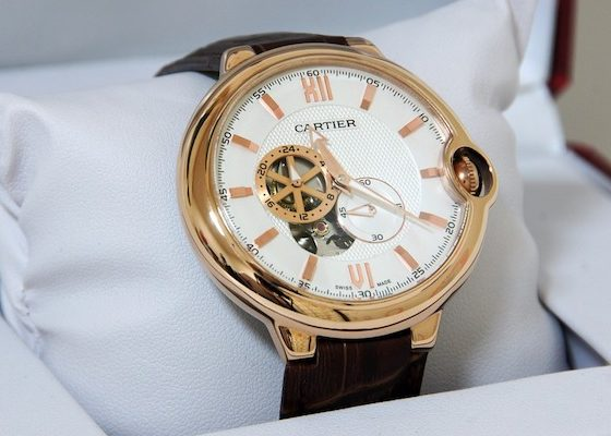 Gold Cartier watch