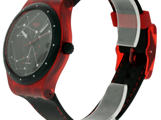 Swatch Sistem51 Watch in Red and Black