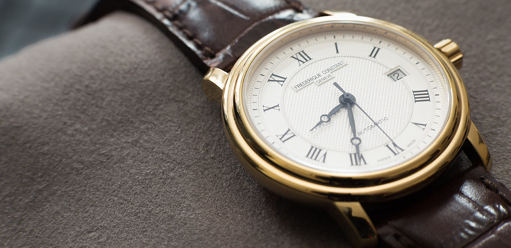 automatic-Frederique-Constant-Watch-with-brown-leather-strap