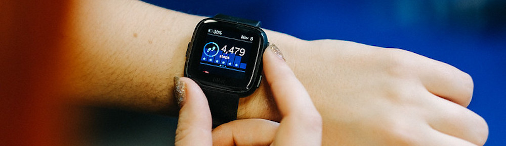 FitBit Versa Watch on Woman's Wrist