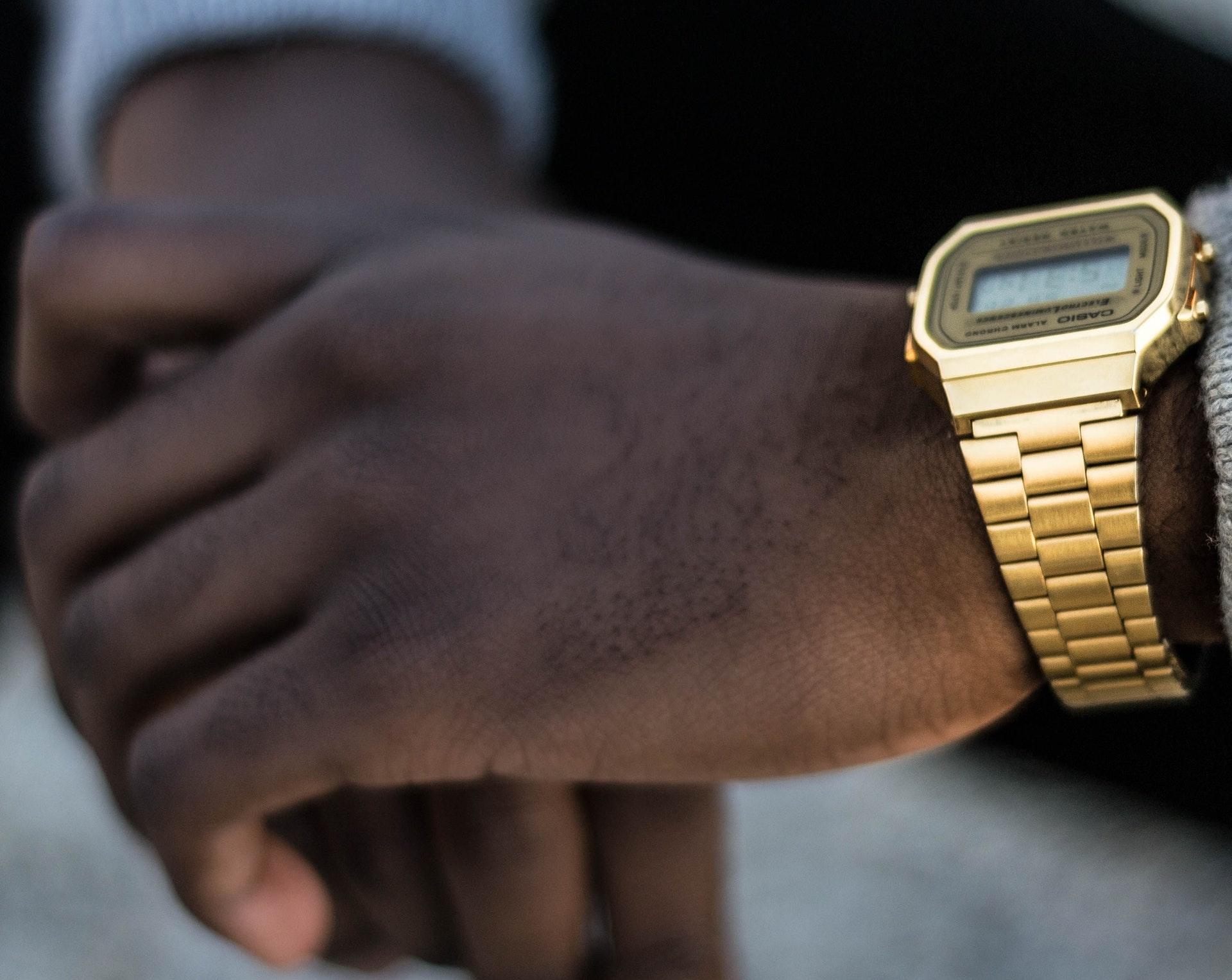 Gold-casio-digital-watch
