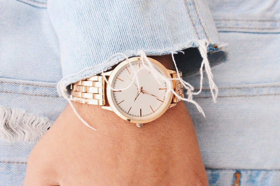 Gold-watch-fashionable-jacket