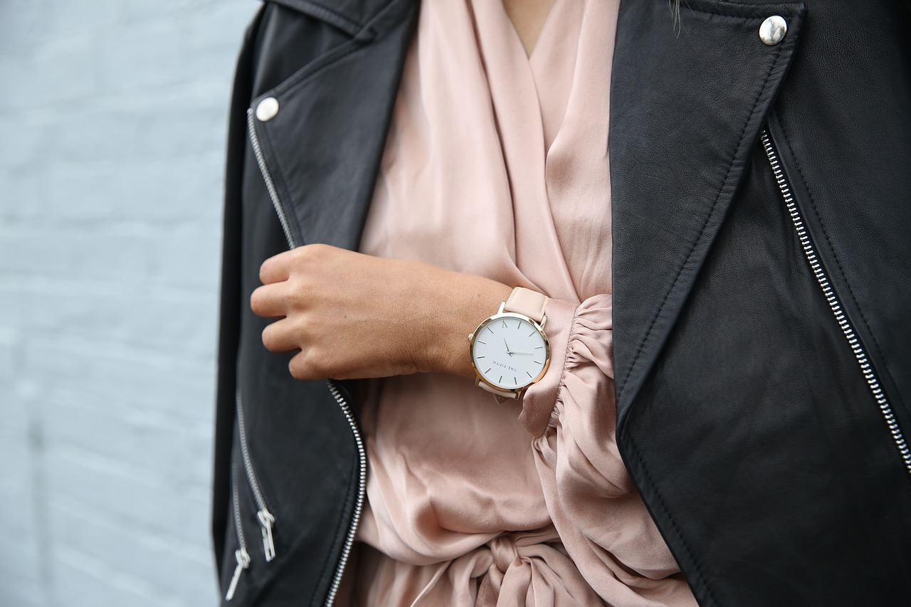 stylish-lady-wearing-watch-and-leather-jacket