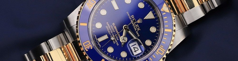 stainless-steel-gold-rolex-submariner-blue-dial