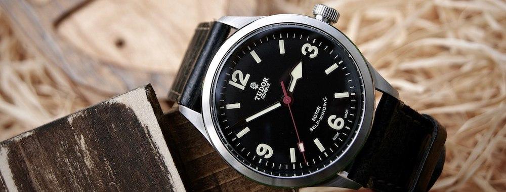 A black Tudor Geneve Self-Winding Watch