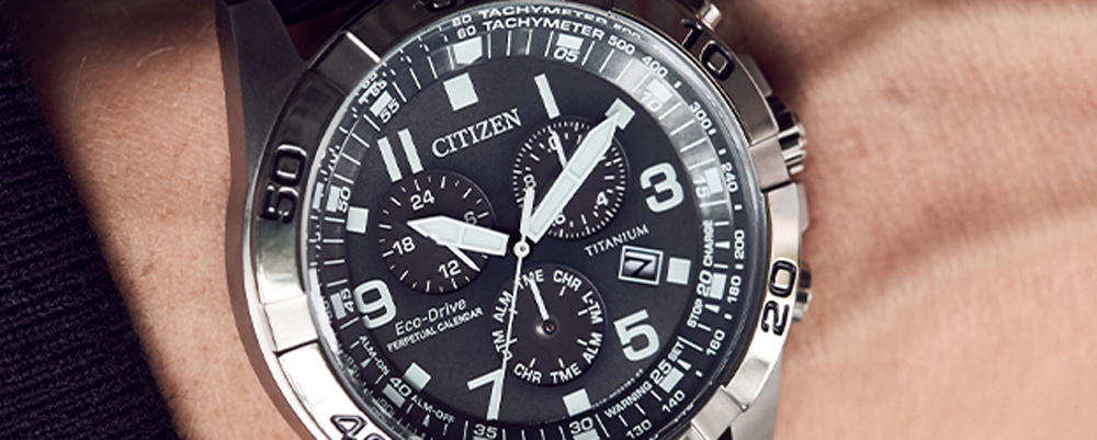 Citizen watch on a person's wrist