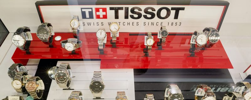 Tissot Watches on display