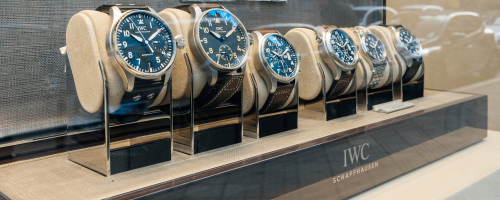 IWC watches on display