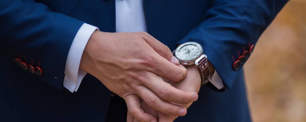 Men's Wrist Watches at the groom's morning