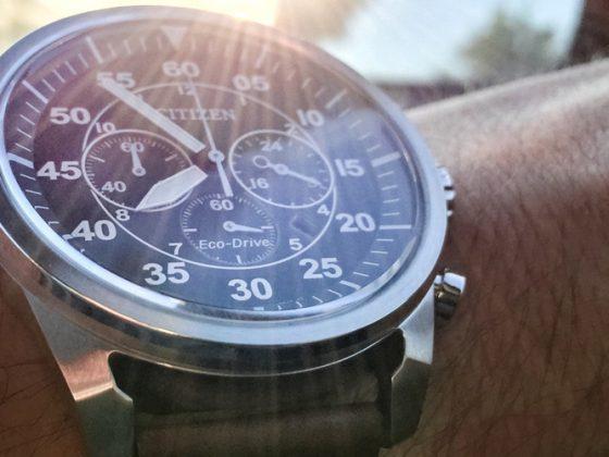 Solar powered watch