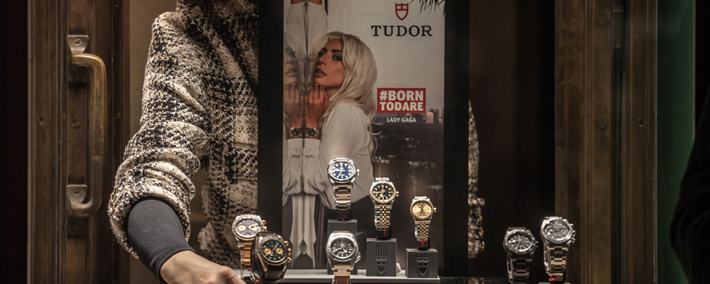 Tudor Watches on display