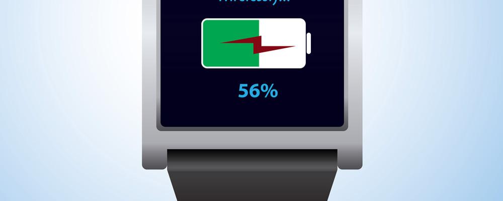 Smart watch battery level