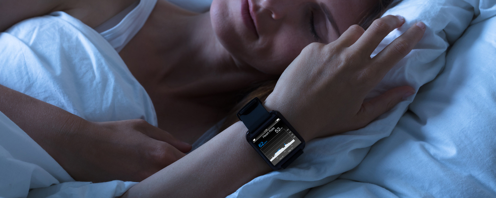 Woman Sleeping With Smart Watch