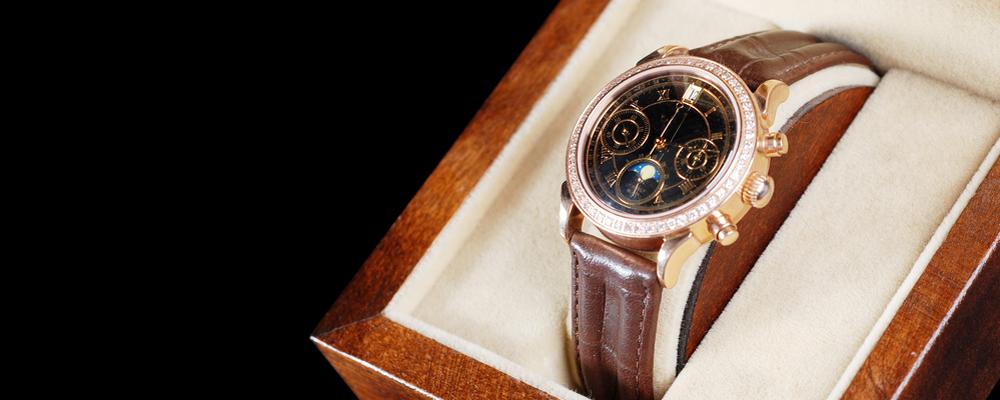 Wristwatch in box