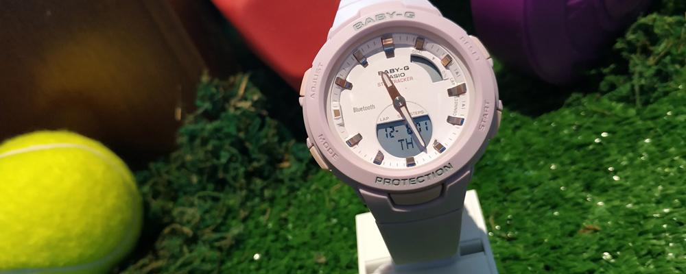 wrist watch and tennis ball