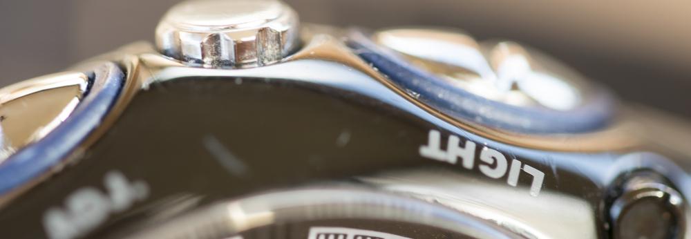 Close-up of Chrono Watch Case