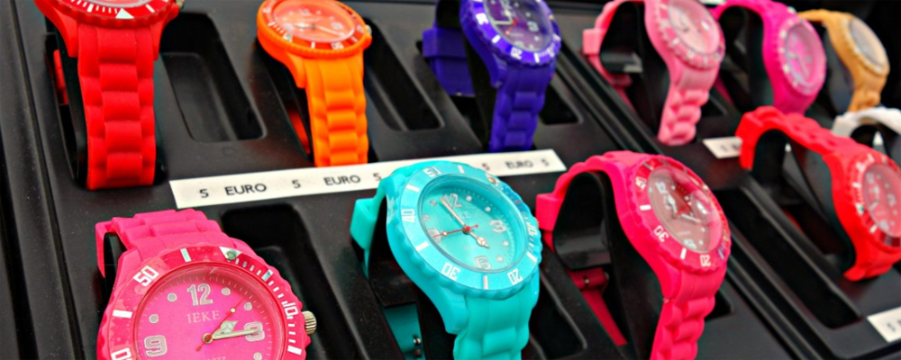 Colorful wristwatch display
