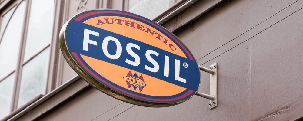 fossil logo sign store clothing watches