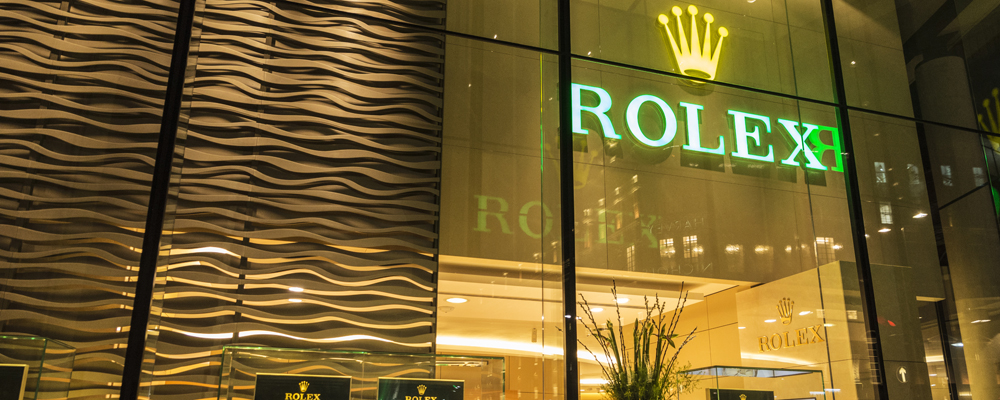 Rolex store in London, England, United Kingdom