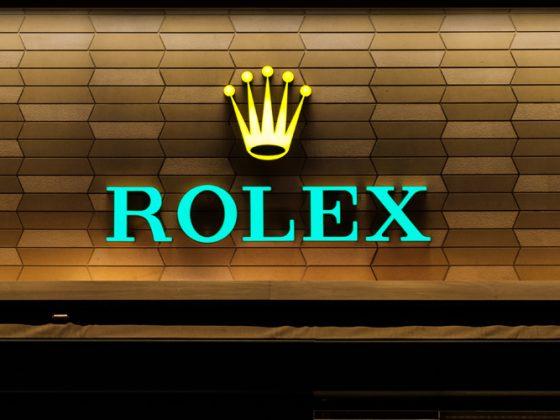 Rolex logo signage on shop