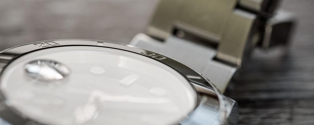 Closeup of rolex watch