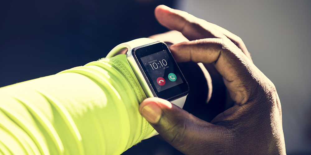Smartwatch on a wrist