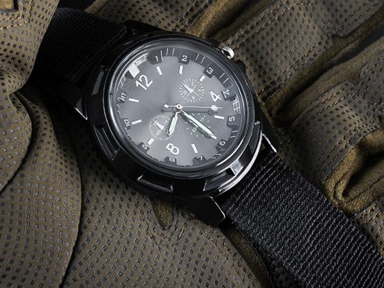 Tactical watch closeup
