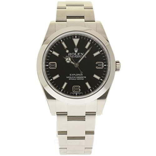 Rolex Explorer Oystersteel Black Dial 39mm Men's Watch 214270