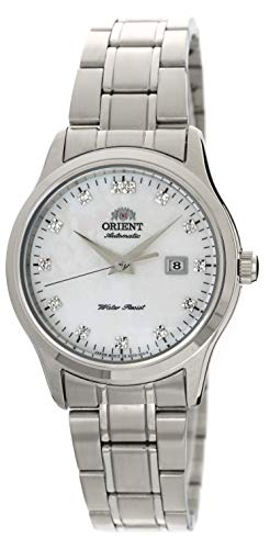 Orient 'Charlene' Classic Automatic Pearl Dial Swarovski Crystal Steel...