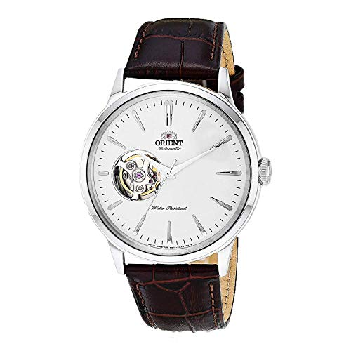 Orient 'Bambino Open Heart' Japanese Automatic Dress Watch