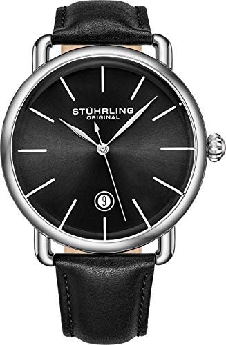 Stuhrling Original Ascot Swiss Quartz Analog Date Wristwatch