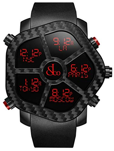 Jacob & Co Ghost Digital Carbon Multiple Time Zone Display Watch