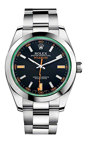 Rolex Milgauss 40 mm 116400GV Stainless Steel Black/Green Oyster