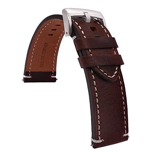 TIME4BEST Strap Leather Watch Bands
