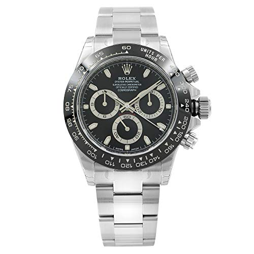 ROLEX Cosmograph Daytona Black Dial Stainless Steel Oyster Watch 116500