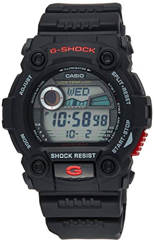 Casio Shock Rescue Digital Black Resin Watch
