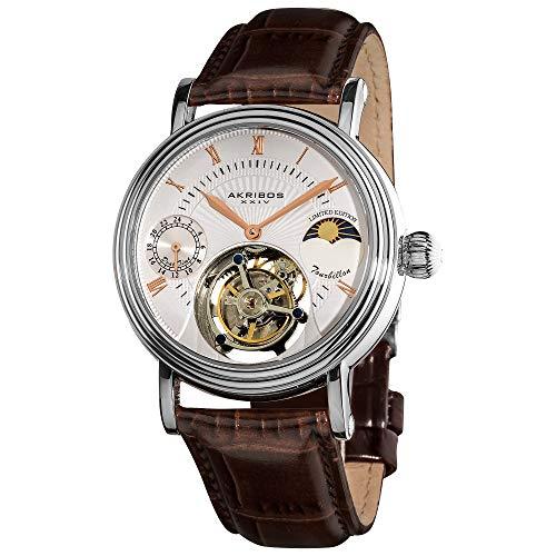 Akribos Mechanical Tourbillon AM/PM (Moonphase Design) Watch
