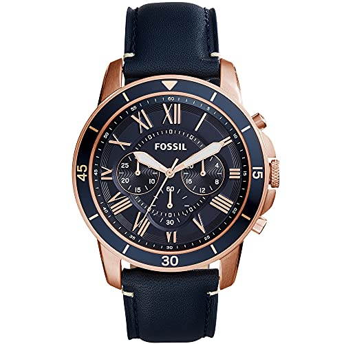 Fossil Grant Sport Leather Chronograph Quartz Watch