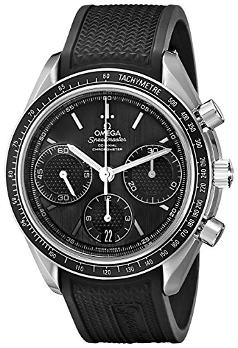 Omega Men's 32632405001001 Speed Master Analog Display Automatic Self Wind Black Watch