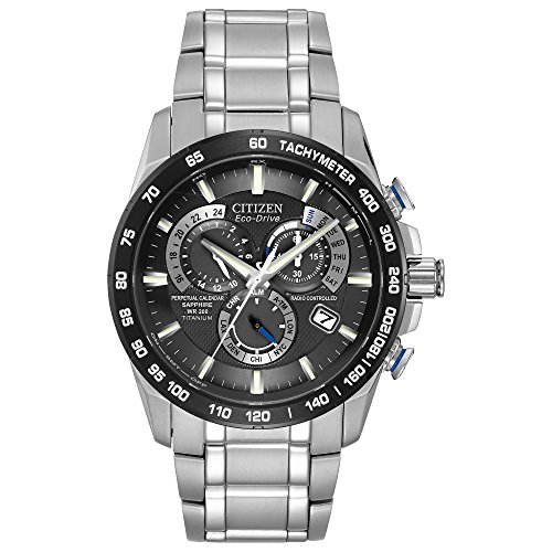 Citizen Men's Eco-Drive Titanium Perpetual Chrono Atomic Timekeeping Watch