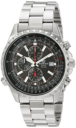 Casio Men's EF527D-1AV 'Edifice' Stainless Steel Multi-Function Watch