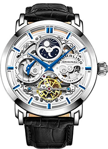 Stührling Original Automatic Skeleton Dial Watch
