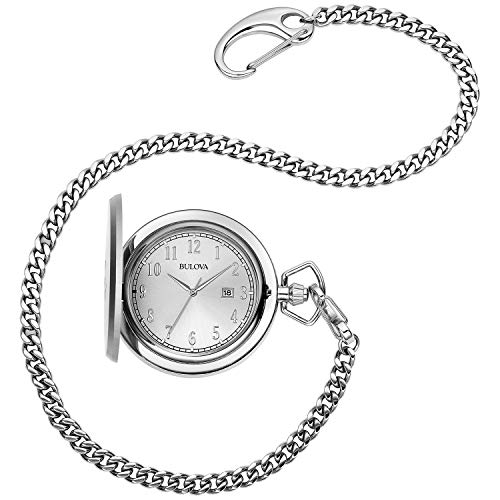 Bulova 96B270 Men's Stainless Steel Analog-Quartz Pocket Watch
