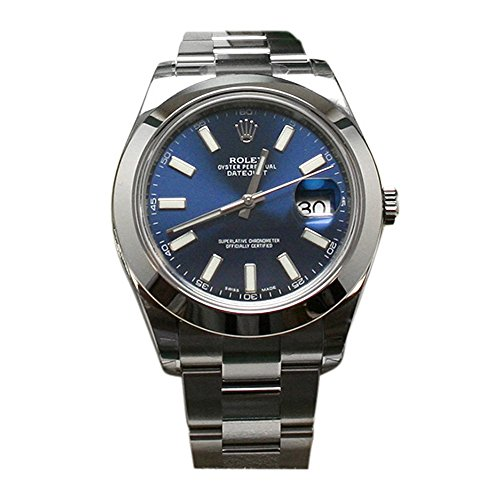 Rolex Datejust II 41 Blue Dial Index Dial Steel Men's Watch 116300