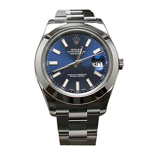 Rolex Datejust II 41 Blue Dial Index Dial Steel Men's Watch 116300