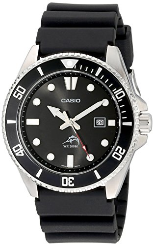 Casio Black Analog Anti Reverse Bezel Watch